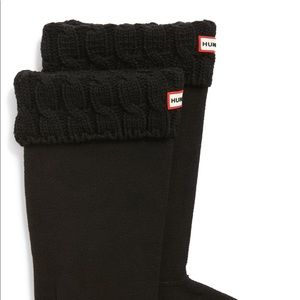 Black Cableknit Hunter Boot Inserts
